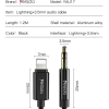 Yesido 1.2m Lightning to 3.5mm Audio Aux Auxiliary Stereo Cable Cord Headphone Jack Adapter Male Compatible With Apple iPhone 12 11 Pro Max X XR XS XS Max iPhone 7 8 6S 6 Plus SE 2020