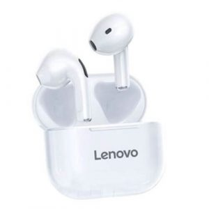 Lenovo LP40 TWS Wireless Earphones Bluetooth 5.0 Waterproof Headset Touch Control Dual Stereo Bass Earbuds Sports Headphones (White)