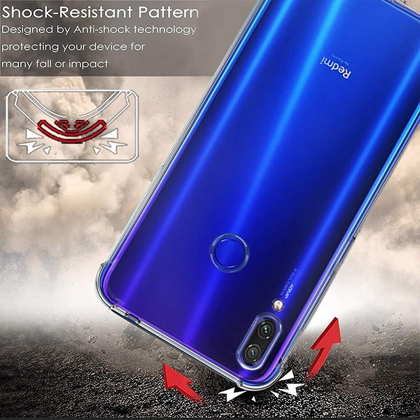 Xiaomi Redmi Note 7 Pro Clear Case Shockproof Tough Transparent Anti knock Heavy Duty Cover