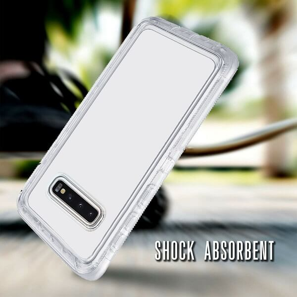 Samsung Galaxy S10 Case Clear Drop Resistant Defender Tough Bumper Heavy Duty Shockproof Back Cover