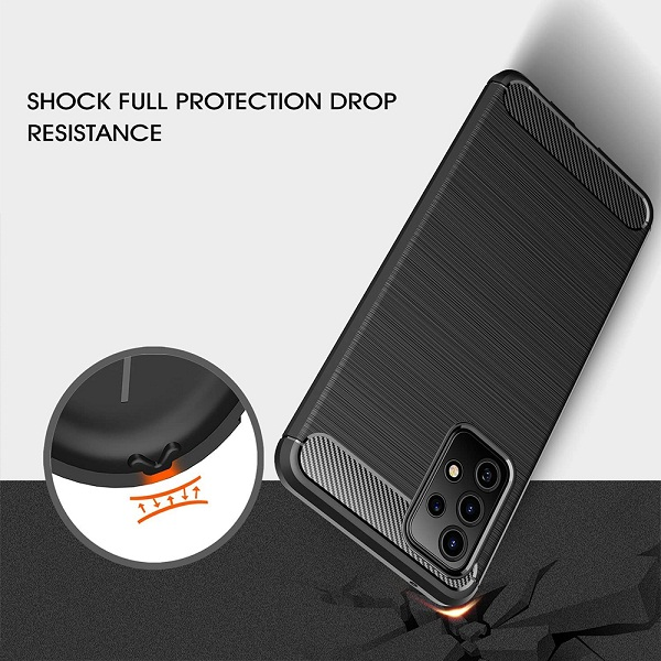 Samsung Galaxy A52s 5G Case Shockproof Heavy Duty Rugged Anti Knock Back Protective Cover (Black)