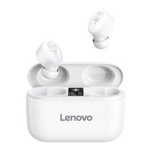 Lenovo HT18 Wireless Headphones TWS True Bluetooth Earphone EarBuds Stereo HD with Mic Headset Big Battery 1000mAh Charging box (White)