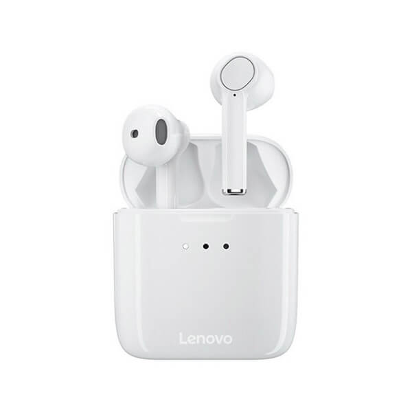 Lenovo QT83 TWS Wireless Earphones Bluetooth 5.0 Headset Touch Control Dual Stereo Bass Earbuds Sports Headphones (White)